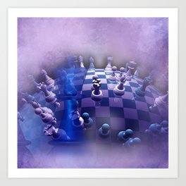 chess over the world Art Print