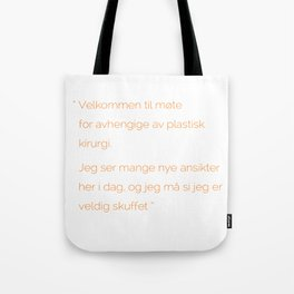 Plastic problems Tote Bag