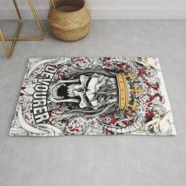 Devourer Skull King Graphic Design Rug