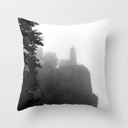 Split Rock Lighthouse Minnesota and Lake Superior Throw Pillow