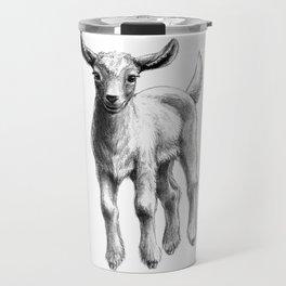 White Goat Baby SK133 Travel Mug