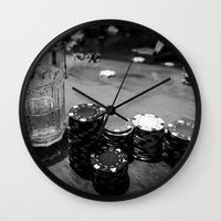 poker Wall Clocks featuring Poker Time by Eduard Leasa Photography