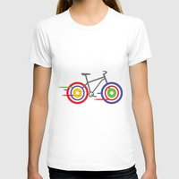 bike T-shirts featuring Bike! by Alice Wieckowska
