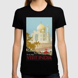 Visit India - Taj Mahal - Vintage Travel Poster T-shirt