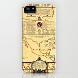Illustrated Map of Well Known Salt Water Game Fish of North America iPhone Case