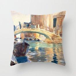John Singer Sargent San Giuseppe Di Castello Venice Throw Pillow