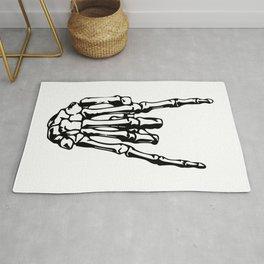 Rock On Skeleton Hand Rug