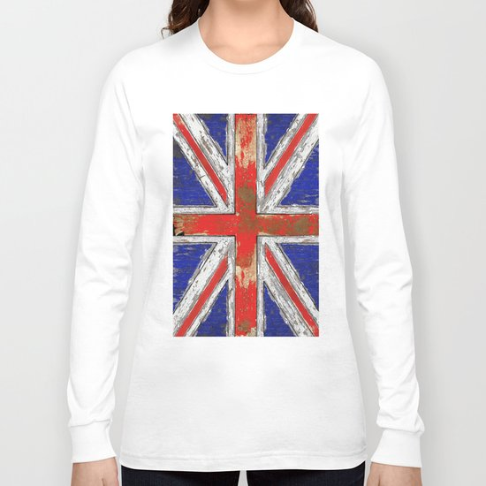UK Vintage Wood Long Sleeve T-shirt