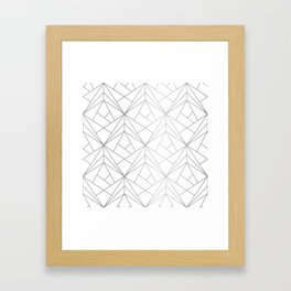 Geometric Silver Pattern Framed Art Print