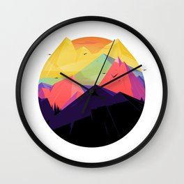 Oh the mountains Wall Clock