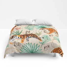 Tropical & Tigers Comforters