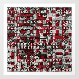 Paradox Network (P/D3 Glitch Collage Studies) Art Print