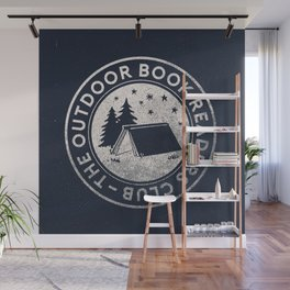 Outdoor Book Readers Club badge Wall Mural