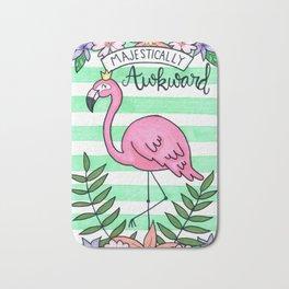 Awkward Flamingo Bath Mat