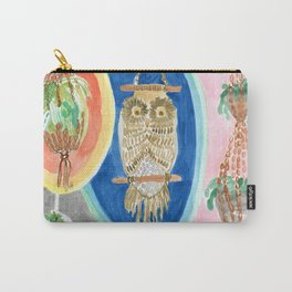 Owl Macrame Carry-All Pouch