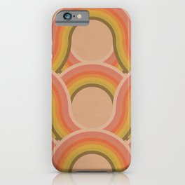 Rollin' Retro Road in Peachy Keen Textured iPhone Case