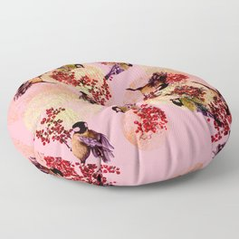 Little Blue Birds Floor Pillow