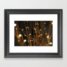 Stars and Lights Framed Art Print