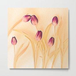 Vintage tulips 2 Metal Print