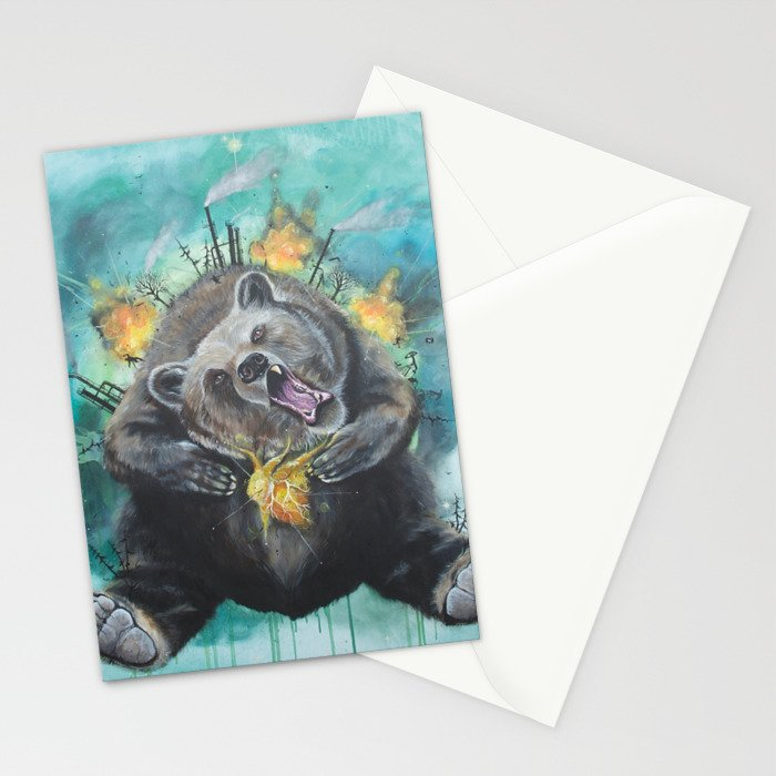 """""""Lice in the fur"""" - Bear Stationery Cards"""