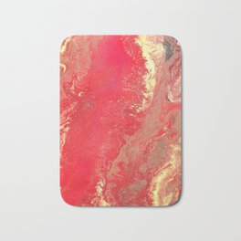"Red Fluid Acrylic Abstract - ""Rags to Riches"" Bath Mat"