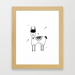 Baby Lama, kids room and nursery deco Framed Art Print