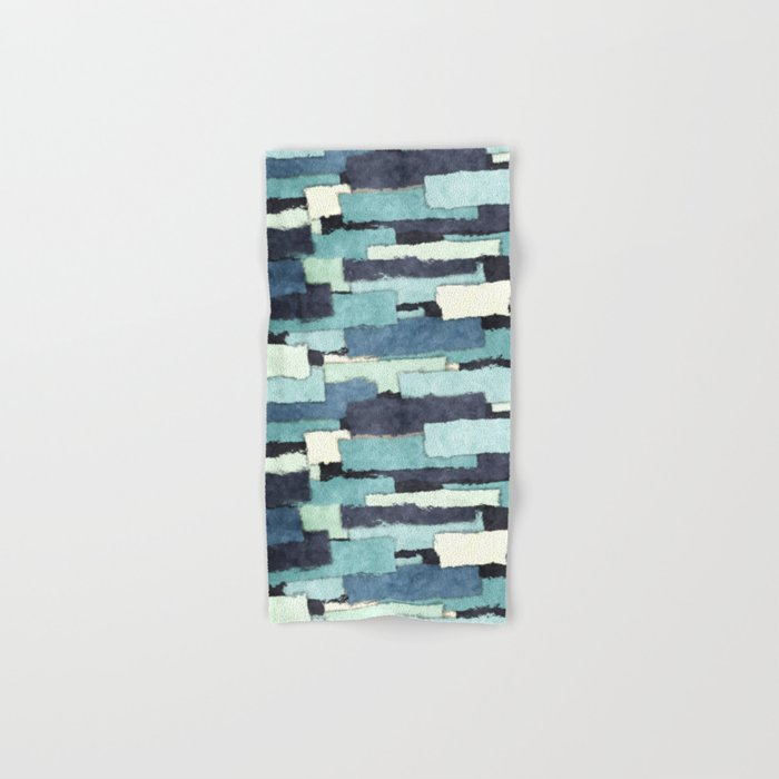 Layers of Colors Pattern Hand & Bath Towel