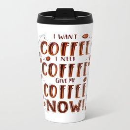 Coffee Addict Metal Travel Mug