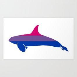 Bi Pride Orca Art Print