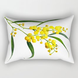 The Golden Wattle Rectangular Pillow