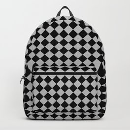 Black and Gray Diamonds Backpack