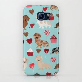 Dachsund dachsie doxie valentines day valentine hearts love cupcakes cute dog gifts iPhone Case