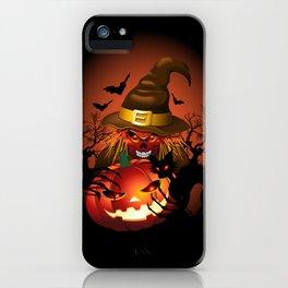 Skull Witch Creepy Halloween iPhone Case