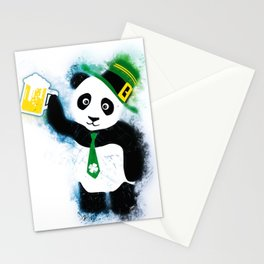 Patrick the Panda in Grunge White Stationery Cards