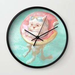 Donut Pool Float Wall Clock