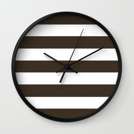 Cola - solid color - white stripes pattern Wall Clock