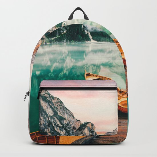 Boats on the lake Backpack