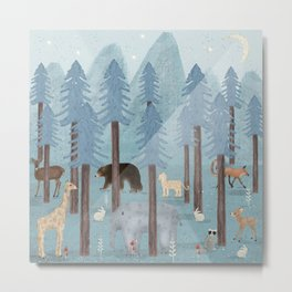 little blue forest Metal Print