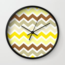 On The Beach Zigzags Wall Clock