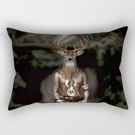 Skinwalker Navajo inspired shapeshifter with deer head Rectangular Pillow