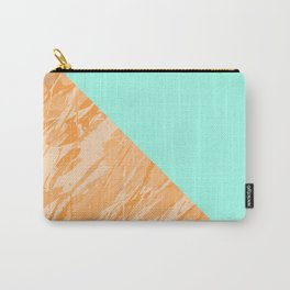 Orange Marble Carry-All Pouch
