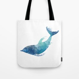 Watercolor playing Dolphin Tote Bag