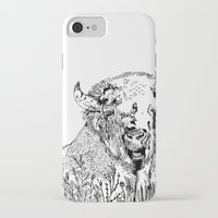 bison iPhone & iPod Cases featuring Bison  by ARI(Sunha Jung)
