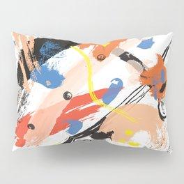 Abstract Floral Splash Pillow Sham