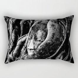 Thai Buddha Head Ayutthaya Rectangular Pillow