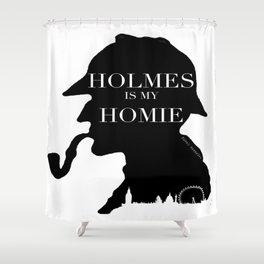Homie Holmes Shower Curtain