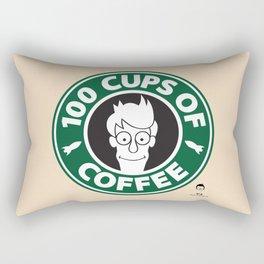 100 Cups of Coffee Rectangular Pillow
