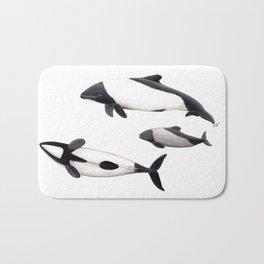 Commerson´s dolphins Bath Mat