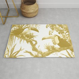 Toucans and Bromeliads - Spicy Mustard Rug