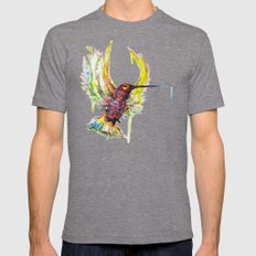#Colisbry Mens Fitted Tee Tri-Grey SMALL